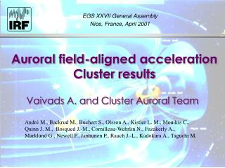 A uroral field-aligned acceleration Cluster results