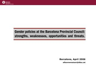 Barcelona, April 2006 efbonnemaison@dibat