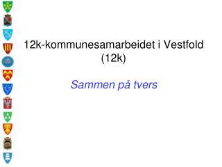 12k-kommunesamarbeidet i Vestfold (12k) Sammen p� tvers