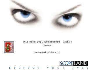 DiDP the emerging Database Standard      Database Seminar