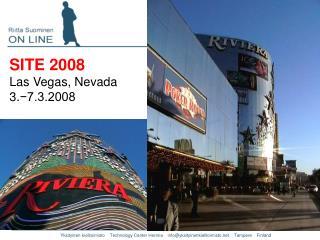 SITE 2008 Las Vegas, Nevada 3. −7.3.2008
