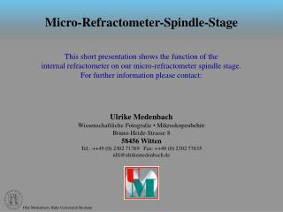Micro-Refractometer-Spindle-Stage