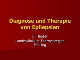 Diagnose und Therapie von Epilepsien