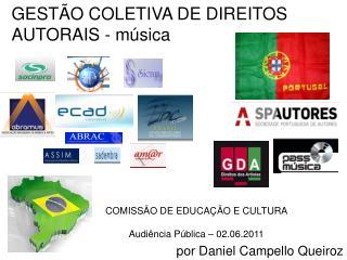 GESTÃO COLETIVA DE DIREITOS AUTORAIS -  música