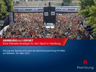 HAMBURG macht SPORT Eine Dekadenstrategie für den Sport in Hamburg