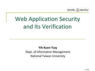 Development of Secure Web Applications   Threats and Defenses