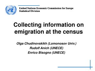 Collecting information on emigration at the census