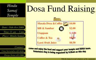 Dosa Fund Raising