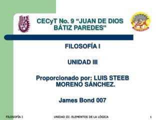 CECyT No. 9 �JUAN DE DIOS B�TIZ PAREDES�