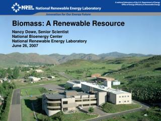 Biomass: A Renewable Resource