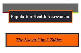 Population Health Assessment