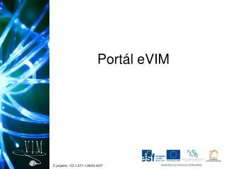 Port�l eVIM