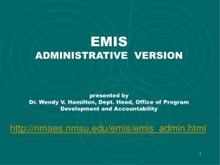 nmaes.nmsu/emis/emis_admin.html