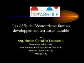 Les défis de l'écotourisme face au développement territorial durable  par