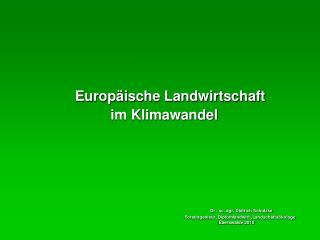 Europäische Landwirtschaft           im Klimawandel