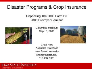 Disaster Programs & Crop Insurance
