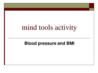 mind tools activity