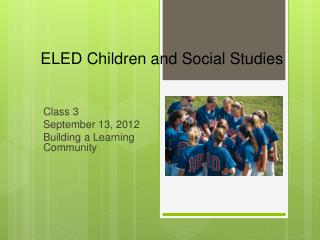 ELED Children and Social Studies