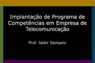 Implantação de Programa de Competências em Empresa de Telecomunicação