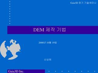 DEM  제작 기법