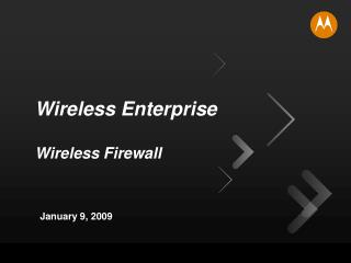 Wireless Enterprise Wireless Firewall