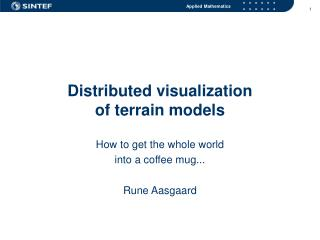 Distributed visualization  of terrain models