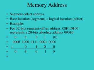 Memory Address