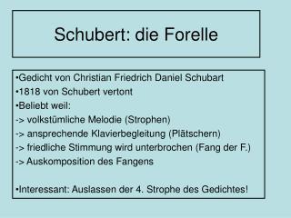 Schubert: die Forelle