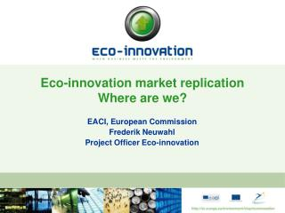 Eco-innovation market replication Where are we?