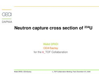 Neutron capture cross section of  234 U