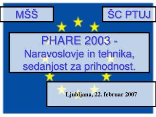 PHARE 2003 -  Naravoslovje in tehnika, sedanjost za prihodnost.