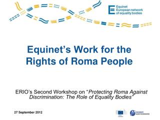 Equinet's Work for the Rights of Roma People