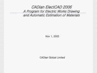 CADian Global Limited