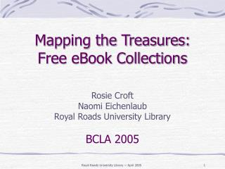 Mapping the Treasures:  Free eBook Collections