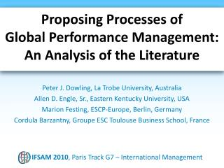 Proposing Processes of Global Performance Management: An Analysis of the Literature