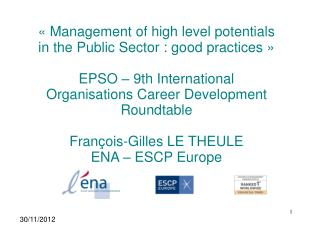 « Management of high level potentials in the Public Sector : good practices »
