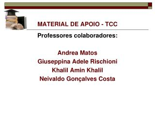 MATERIAL DE APOIO - TCC