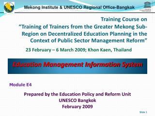 Education Management Information System