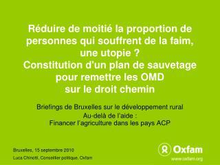 Briefings de Bruxelles sur le développement rural