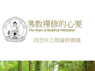 佛教禪修的心要 The Heart of Buddhist Meditation