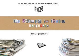 INVESTIMENTI PUBBLICITARI NETTI STIMATI MEZZI Anno 2011/2012 Variazioni Percentuali
