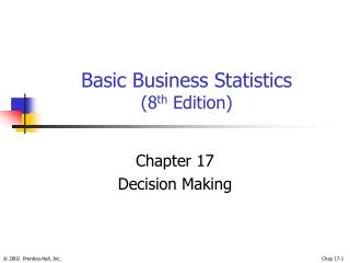 Basic Business Statistics 8th Edition