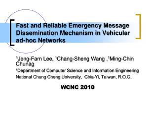 Fast and Reliable Emergency Message Dissemination Mechanism in Vehicular ad-hoc Networks