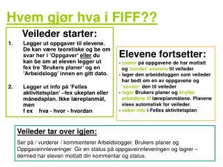 Hvem gjør hva i FIFF??