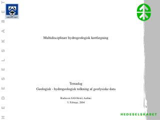Multidisciplinær hydrogeologisk kortlægning Temadag