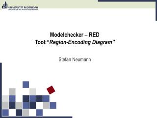 "Modelchecker – RED Tool:"" Region-Encoding Diagram"""