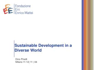 Sustainable Development in a Diverse World