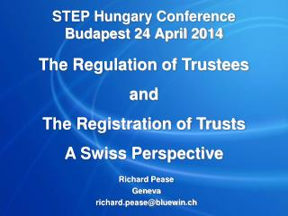 STEP Hungary Conference Budapest 24 April 2014