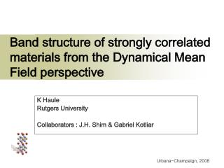 Band structure of strongly correlated materials from the Dynamical Mean Field perspective