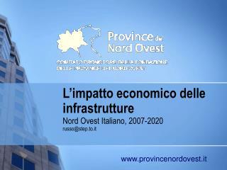 L'impatto economico delle infrastrutture